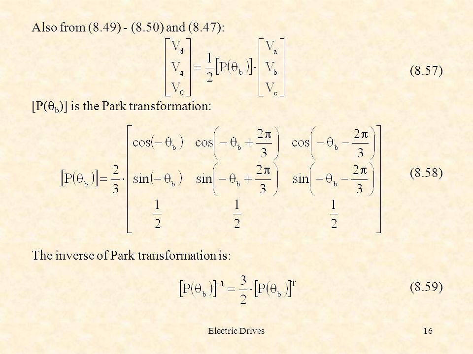 [P(qb)] is the Park transformation: